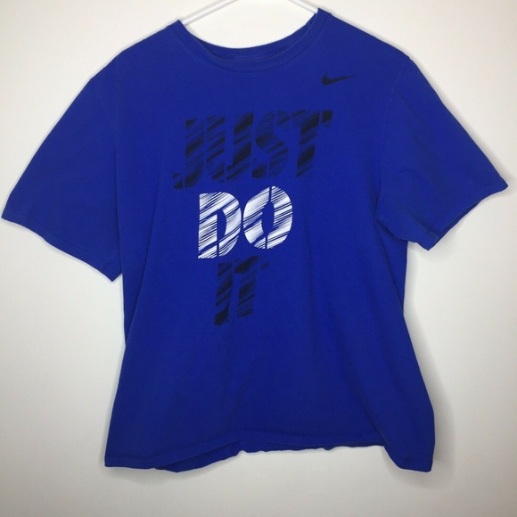 c2c55aad Nike Shirts & Tops | Youth Boys Xl Blue Just Do It Graphic Shirt ...